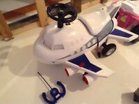 Ride on/remote control airplane NEW PRICE