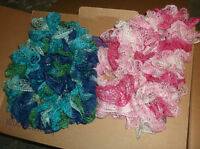 2 Knitted Scarves for girls