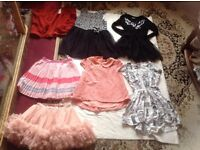 Job lot bundles 7 items girl clothes age 6/7/8yrs used £10