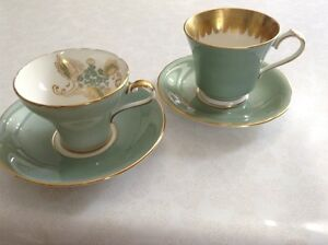 Vintage Aynsley Cups & Saucers
