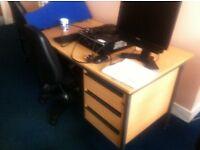 Small office desks + swivel chair