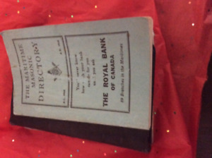 Antique maritime Masonic directory book   Member  names 1945