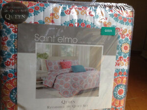saint elmo luxury quilt collection reversible 5pc queelt set