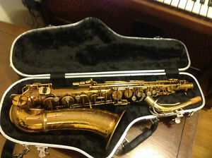 Vintage Boosey & Hawkes '32'Alto Saxophone.Rolled tone holes,