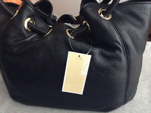 Michael Kors Ring Tote MD EW Black Leather Cambridge Kitchener Area image 1
