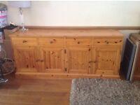 Pine solid wood sideboard/dresser
