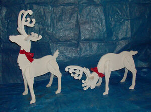 Hand-painted wooden Christmas lawn ornaments