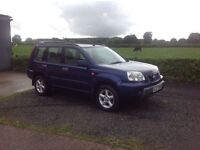 2003 Nissan X-Trail 2.2 TD Sport 6 speed blue motd October 16 very low miles 68.000
