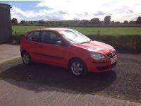 2006 Volkswagen polo 1.2 E 55 Red 3 door full mot low miles