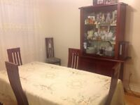 Real shery wood dining room set