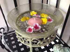 3 Vases, round on cast iron base London Ontario image 1