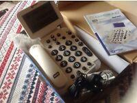 Geemarc Bdp400 Amplified Big Display Phone Talking Caller ID 400 Telephone £45 new