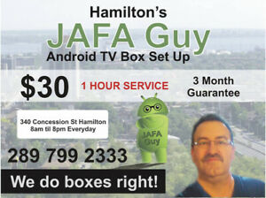 Hamilton's  Android TV Box Setup & Guarantee
