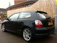 "2005 HONDA CIVIC 1.6 V-TEC DOHC SPORT TYPE R REP 17""ALLOYS HPI CLEAR NOT FR GT ASTRA MEGANE MINI"