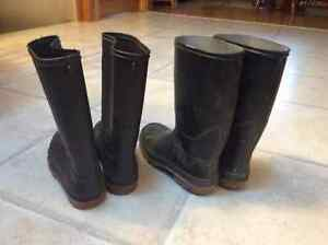 Rubber Boots Size 5 We have 2 pairs available Cambridge Kitchener Area image 3