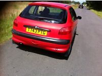 lovely automatic 1.4 peugeot 206 low miles 73000 engine and gear box good only 2 owners from new