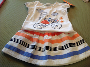 2T gymboree skirt set, 3T carter sweater