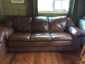 Leather sofa,love seat and lazyboy