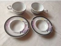 Brand new 2 Coffee cup and 2 plates loving you £4