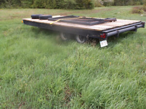 8x16 ft home made 10 000lb tandem trailer