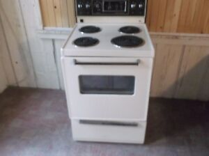 almond 24 inch stove excellent working condition