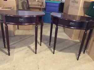 Lovely Half Moon Tables