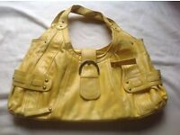 Ladies handbag yellow colour used £2