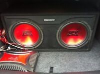 "12"" MTX Thunder subs with amp/wiring"