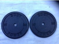 4 x 10kg Bodypower Standard Cast Iron Weights
