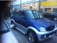 1 OWNER DAIHATSU TERIOS SPORT 5 DOORS 1.3 4X4 MANUAL IN SUPERB CONDITION ALL ROUND MOT