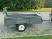 All steel 4x8 trailer with ramp