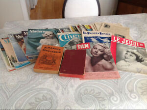 Vintage french  magazines from 1934-1955