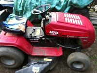 Ride on mower and cart $350