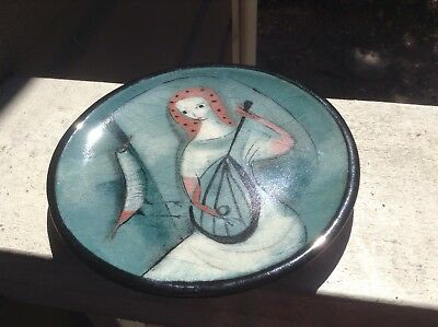 "Pillin 6.5"" Plate Of Women And Bird"