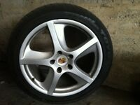 Porsche cayenne turbo alloy and tyre 275/40/20 fits Audi VW