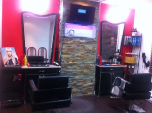 hairstylist station with mirror and facial steamer for sale
