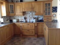 Oak Kitchen With Appliances