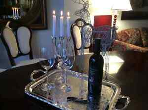 Beautiful silver service tray with tea, coffee, sugar and cream West Island Greater Montréal image 5