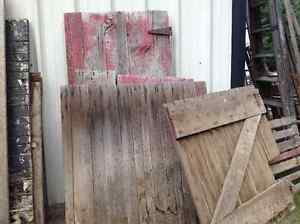 Assorted old barn doors