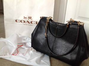 Coach Madison Caroline textured leather satchel serial 25245