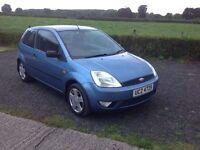 2003 Ford Fiesta 1.4 Zetec 3 door blue very low miles 52.000 motd October