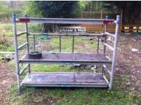 Lightweight portable scaffold tower