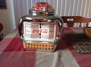 Coca Cola Jukebox Cookie Jar Ceramic Gibson 2000 Retro Decor
