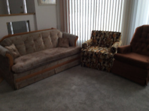 Hide A Bed Couch and Chairs