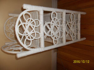 TWO WHITE WICKER STANDS St. John's Newfoundland image 6