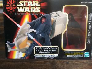 Star Wars Sith Speeder with Darth Maul   Brand New