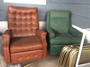 Recliner, rocker, TV trays, etc.