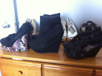7 pairs of size 8 Shoes/ boots all never worn.