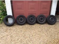 """Corsa c steel wheels and tyres 14 """""""