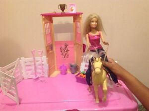 Barbie and her horse and accessories